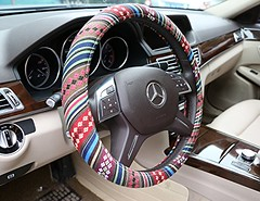 "Automotive Steering Wheel Cover - TKOOFN Ethnic Style Baja Blanket Exotic Look Flax Cloth Wrap Cover Fit for Car Steering Wheel with 38cm/15"" Diameter, Anti Slip & Sweat Absorption (wupplescars) Tags: look wheel steering style wrap automotive exotic cover blanket sweat slip baja cloth ethnic anti flax absorption diameter tkoofn 38cm15"