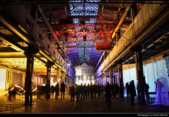 Naxoshalle, Luminale 2016, Frankfurt, Germany (JH_1982) Tags: roof light color colour art industry luz colors night germany dark deutschland noche licht colorful factory glow colours hessen darkness artistic nacht lumire frankfurt steel kunst fabrik illumination installation glowing colourful nuit industrie halle notte bornheim ostend dunkel beleuchtung naxos francfort frankfurter  hesse stahl meno 2016  beleuchtet francoforte leuchten naxoshalle luminale fabrikhalle  frncfort fabrikgelnde  naxosunion