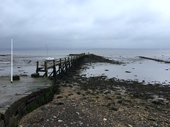 Spring afternoon - Firth of Forth, Fife (grecophile_1) Tags: mist water river grey scotland pier spring fife estuary forth damp culross