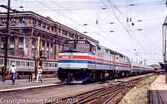 225, New Haven, CT, 9-1977 (Rkap10) Tags: railroad other connecticut places amtrak albums locomotives f40 railroadslidescans