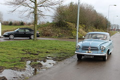 Borgward and Saab, two great automakers gone (Davydutchy) Tags: auto show classic netherlands car march automobile nederland voiture vehicle oldtimer frise isabella saab paysbas friesland niederlande drachten borgward 2016 frysln pkw frisia automobiel oldtimerbeurs