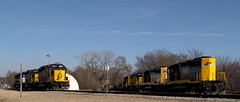 SKOL Locomotives (Photographs By Wade) Tags: trains engines kansas winfield skol locomotives diesels watco