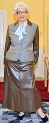 Ingrid021853 (ingrid_bach61) Tags: leather suit mature button faux kostm fullskirt glockenrock durchgeknpft