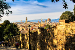 Florence in the sunlight (Arutemu) Tags: city light urban italy sunlight canon florence europe italia cityscape afternoon eu ciudad tuscany firenze toscana   6d          eos6d  canon6d