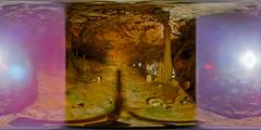 (blooper/learning) (severalsnakes) Tags: vacation lake tour interior 360 tourist formation missouri mineral cave stalagmite lakeoftheozarks ricoh onyx thundermountain stalactite ozark spherical degrees theta camdenton thetas bridalcave theta360 saraspaedy