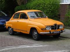 1975 Saab 96 (harry_nl) Tags: netherlands rotterdam nederland saab 96 2016 73eh15 sidecode3