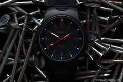 Tough as Nails (Simon Greig Photo) Tags: macro closeup dark nail watch timepiece nite mx10 tritium