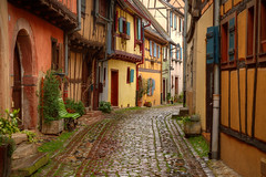 Once upon a time... (Alex Switzerland) Tags: france colors architecture canon eos alley frankreich alsace ruelle vicolo francia elsass gasse 6d alsazia eugesheim