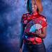 DSC_0270 Somali Lady Portrait Red Chinese Silk Mandarin Dress  Shoreditch Studio London