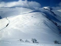 Road to Mt.Shokanbetsu (threepinner) Tags: ski mamiya spring skiing 55mm   positive f28 sekor mashike m645   mountainsnaps mtshokanbetsu
