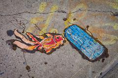 Pollution (justingreen19) Tags: street city nyc newyorkcity blue urban fish streetart ny newyork art nature brooklyn pavement manhattan environmental pollution damage williamsburg environment publicart redfish pollute urbanabstract environmentalissues damaging justingreen19 justingreenphotography artonpavement
