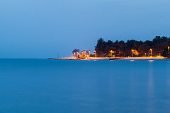 Trial and Error (Deva207) Tags: longexposure blue sea beach evening croatia hour fazana