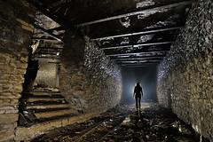 Petit escalier dans un roulage (flallier) Tags: silhouette underground iron stair mine subterranean escalier fer souterraine ipn roulage consolidations