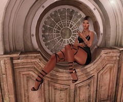 Stop the time (RoxxyPink) Tags: life pink fashion hair mesh little mandala sl secondlife empire bones second heels collaborative genre maitai the liaison puki roxxy maitreya slink meshhead of cynful meshbody dirtystories theepiphany bliensen bliensenmaitai theliaisoncollaborative fashionuschies roxxypink