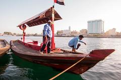 Dubai Old Souq (roanerskribb) Tags: old dubai souq boatman fujixt10
