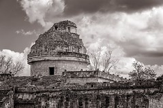 The Observatory - Chichen Itza (danielacon15) Tags: old travel white black history mexico calendar yucatan chichenitza observatory mayanruins architcture civilization astronomy archaeolgy