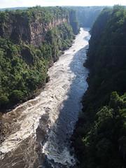 Zambezi River (little_duckie) Tags: africa zimbabwe bungy bungee zambezi bungyjump zambeziriver 111metres