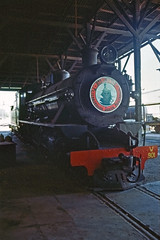 former WAGR W 901 engine in Peterborough, S.A. (Stefan Ulrich Fischer) Tags: travel museum 35mm outdoor oz railway australia slide historic scanned outback analogue southaustralia peterborough downunder steamtrain steamtown kodakektachrome minoltaxd7 steamrail