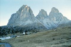 (seattlesound is albertocobbodi) Tags: mountain classic film analog trekking 35mm vintage tirol pentax kodak analogue trentino dolomiti altoadige valgardena passerella sudtirolo