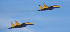 MiG-29Cs (Pentakrom) Tags: force air 1993 russian fairford mikoyan mig29 iat
