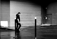The closed doors (pascalcolin1) Tags: blackandwhite reflection rain doors noiretblanc pluie grille reflets streetview paris13 portes photoderue urbanarte photopascalcolin