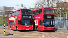 LJ08 CXV, Arriva ADL Enviro T65, and LX03 BWG, Stagecoach Dennis Trident 17793, Romford, 12th. April 2016. (Crewcastrian) Tags: romford buses arriva stagecoach transport dennis alexander enviro dennistrident lj08cxv t65 lx03bwg 17793 doubledecker