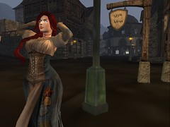 A good day for a stretch (sanctussinful) Tags: bar ginger redhead secondlife edge tavern whore ro brothel wench harlot eor