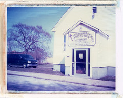 Gary, IN (moominsean) Tags: church polaroid midwest steel indiana instant gary 190 type669 expired092004 faithtabernaclechurchofgodinchrist