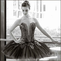 ballet is beautiful (fabiennej) Tags: blackandwhite ballet art ballerina tutu