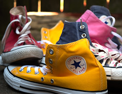 Shoes got Color (oolitka) Tags: pink blue red colors yellow comfortable stars shoe warm all style converse
