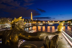 Pont Alexandre III (Bourrichon) Tags: 3 paris water night cool perfect tour eiffel pont alexandre