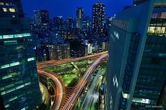 Tokyo  Night express (koshichiba) Tags: travel light sky urban building japan skyline night skyscraper skyscape tokyo twilight long exposure cityscape view nightscape landmark metropolis  express