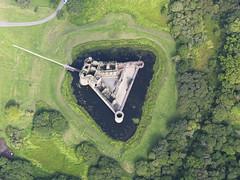 Caerlaverock Castle, Dumfries and Galloway 2011 (RCAHMS) Tags: castle landscape scotland aerial hes aerialphotograph dumfriesandgalloway caerlaverockcastle 2011 rcahms historicenvironmentscotland dp108249