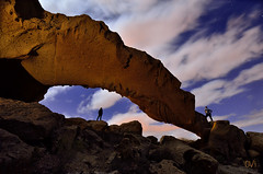 Arco de tajao (OVY (Fotografia Nocturna)) Tags: longexposure nightphotography espaa night stars noche nikon nubes estrellas tenerife nocturna arco largaexposicion nikonistas arico tajao noctambulos ledlenser mariorubio fotografonocturno