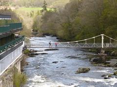 Llangollen Chain Bridge (Thomas Kelly 48) Tags: bridge wales lumix panasonic dee llangollen riverdee chainbridge fz150