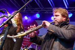 Martin-Rühmann-Band auf der Bühne am Alten Markt während der 8. Meile der Demokratie 2016