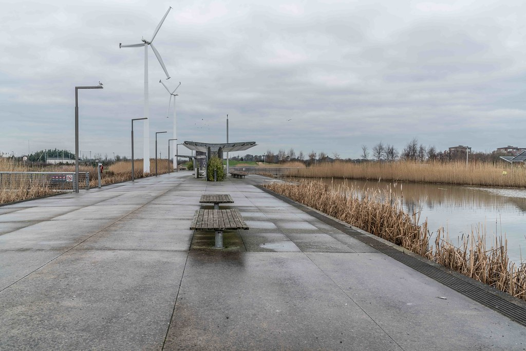 Wind Powered Public Park In Clongriffin Dublin [Father Collins Park]-110939