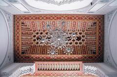 Carved ceiling 1 (Abd-Elilah Ouassif) Tags: monument architecture nikon mosque ceiling morocco chandelier maroc coolpix inside casablanca 2009 intérieur plafond mosquée lustre hassanii abdelilah ouassif