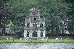 Turtle Tower at Hon Kim lake (Hanoi, Vietnam 2015) (paularps) Tags: travel food beach nature island asia culture vietnam hoian tropical hanoi hue saigon hochiminhcity danang eiland reizen azi 2016 2015 tropisch arps condao paularps cophe nikond7100
