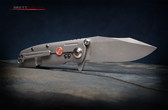 Reate Knives District 9 Plus - Clip Side (Fly to Water) Tags: stone dark photography district nine over knife 9 professional wash edge weapon blade knives product titanium folder built folding tactical stonewash edged overbuilt reate s35vn d9plus