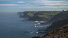 Acantilados (Oscar F. Hevia) Tags: ocean blue sea espaa cliff costa azul coast mar spain waves gijn asturias shore olas acantilado oceano asturies xixn laprovidencia laora costaasturiana principadodeasturias