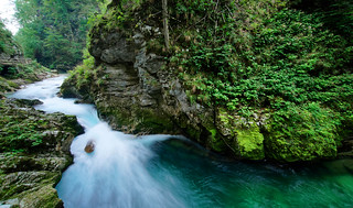 The beauty of the Vintgar gorge