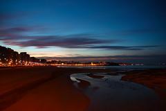 Gijn. Desde el Piles. (David A.L.) Tags: ro gijn asturias playa anochecer playadesanlorenzo anochece