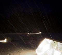 It's snowing (snow-trails II) (cwipix) Tags: nightphotography winter light snow cold night dark season snowstorm snowing illuminate gloriette nachtfotografie snowtrails