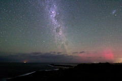 Milkyway and the Aurora Australis (PhilliB123) Tags: sky cloud canon stars coast long exposure south tokina aurora nsw coastline australis f28 nigh t3i milkyway gerroa magellanic 600d 1116mm