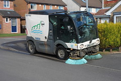 Pavement cleaner. (aitch tee) Tags: cleaning vehicle streetsweeper councilvehicle rhoosesouthwales valeofglamorgancouncilvehicle