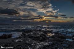 Time of the shadows (nikhrist) Tags: sunset sea rocks nick greece attiki glyfada christodoulou