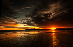 Happy Valentines Day from Donaghadee (RonnieLMills) Tags: lighthouse clouds sunrise dark dawn harbor day harbour valentines sunburst donaghadee