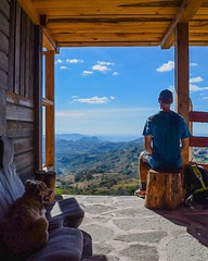 The climb to get here was miserable, but after sitting down for a bit a guy stopped and told me this building was his friend's and that I could sleep here for the night. Then he gave me pizza. Life is alright. #theworldwalk #travel #honduras