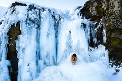 95/365 | Baptisim (Sean Kobi Sandoval) Tags: cold art ice naked nude photography waterfall iceland baptism conceptual